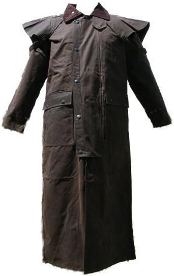 Campbell Cooper-Abrigo Stockmans-Chaqueta algodón Encerado de Largo, Autralien-Nuevo marrón 34: Amazon.es: Ropa y accesorios