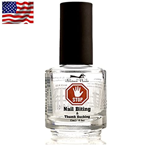 Stop Nail Biting Polish for Adults and Kids, Helps Cure, Stimulates & Promotes Nail Growth Stop Thumb Sucking Combinned With A Thumb & Finger guard for Children, Nail biting solutions for (Nail Biting For Kids)