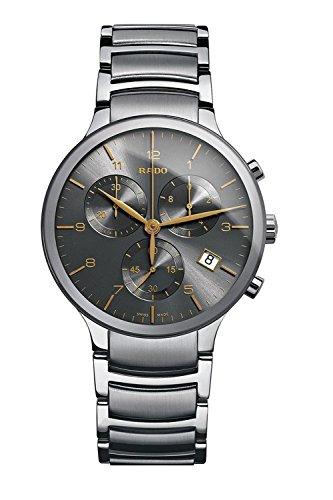 Rado-Centrix-XL-Chronograph-Grey-Dial-Stainless-Steel-Mens-Watch-R30122103
