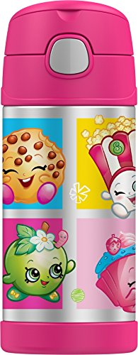 Thermos Funtainer 12 Ounce Bottle, Shopkins Bottle Lunch Box