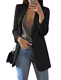 Mupoduvos Womens Work Office Blazer Open Front Slim Fit Formal Coat Jacket Suits
