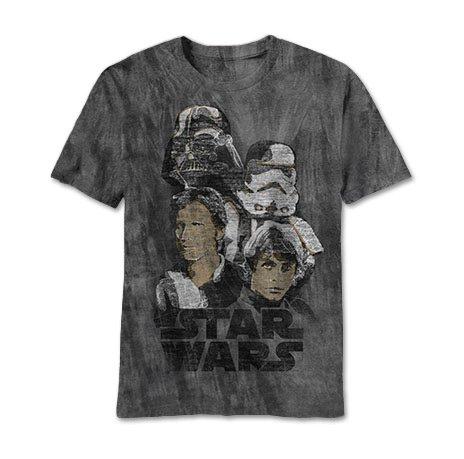 Charcoal River Wash T-shirt (Star Wars Get At Me Charcoal River Wash T-Shirt (xxl))