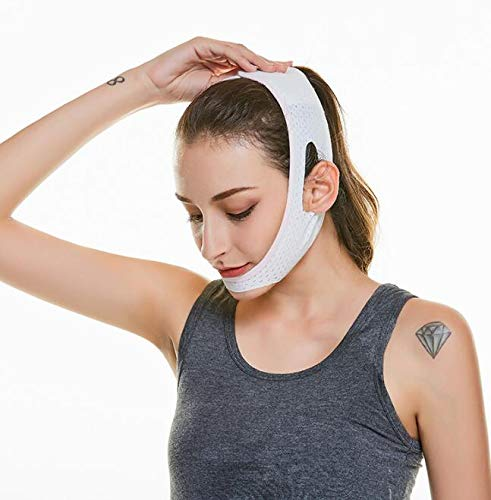 happy- little -bear V Face Chin Cheek Lift Up Slimming Slim Mask Belt Strap Band Facial Slim Up Belt Anti Wrinkle Face Mask