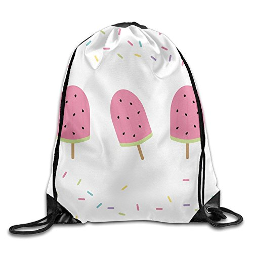 HATS NEW Watermelon Ice Cream Drawstring Bags Portable Backpack Pocket Travel Sport Gym Bag Yoga Runner Daypack