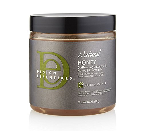 Design Essentials Natural Honey Curl Forming Custard infused with Almond, Avocado, Honey & Chamomile for Intense Shine, Medium Hold and Definition-8oz. (Best Product For Natural Curls)