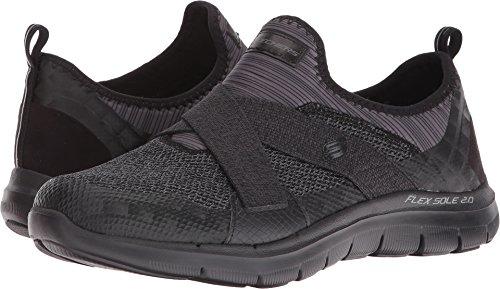 Skechers Women's Flex Appeal 2.0 - New Image Black Loafer (Image Womens)