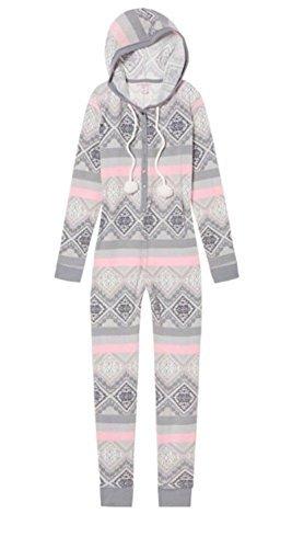oded Onesie Pajama Geo Grey/Pink S ()