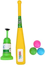 Kids Baseball Training Set, Automatic Launcher with Bat and Baseball for Children Outdoor or Indoor Toys Sport
