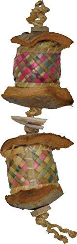 A&E CAGE COMPANY 001184 Java Wood Surprise Drum Bird Toy Assorted, Medium (Drum Bird Toy)