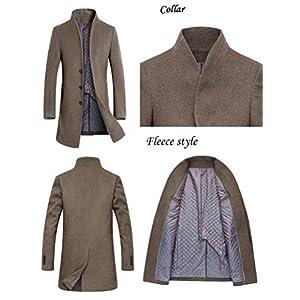 Mordenmiss Men's French Woolen Coat Business Down Jacket Trench Topcoat
