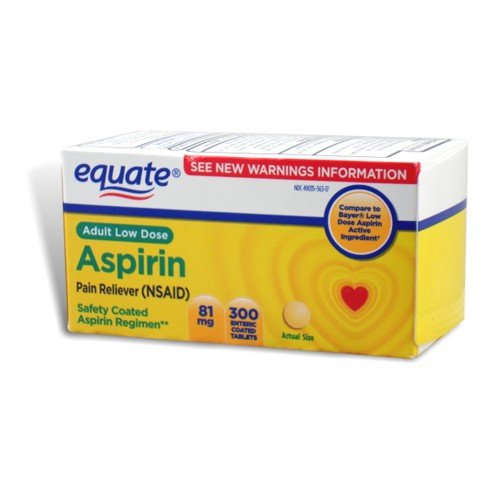 Amazon.com: Equate - Aspirin 81 Mg, Adult Low Strength Aspirin ...