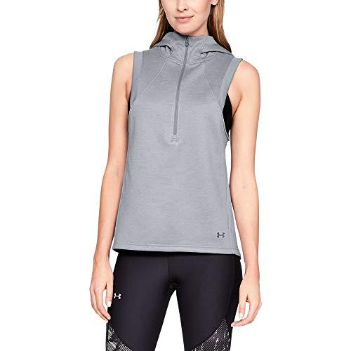 (Under Armour Women's Synthetic Fleece Vest, Steel (035)/Tonal, Small)