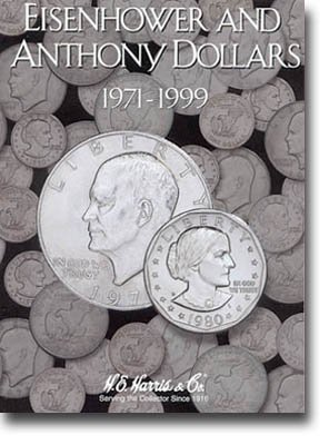 HE Harris Coin Folder: Eisenhower/Susan B Anthony Dollars --NEW