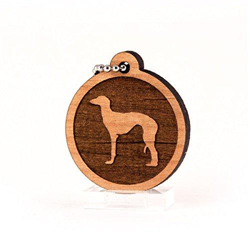 Sunset Design Lab Saluki for AKC Dog Pet American Kennel Club Wood Laser Cut Keychain Charm Ornament
