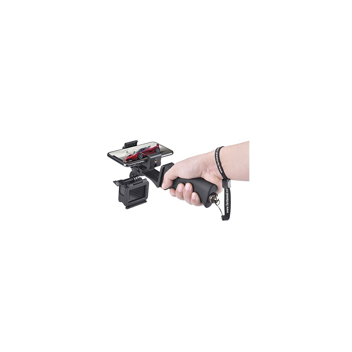 Sony Action Cam and Other DSLR Cameras Blue GoPro Hero Camcorders Hand Grip Handle Stabilizer with Strap for Digital Cameras