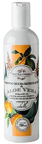 Boutique Herbal - Shampoo de Aloe Vera Orgánico con Aceite de Aguacate y Vitamina E 280ml