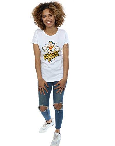 Comics Dc Blanc Wonder T shirt Stars Absolute Femme Cult Woman F7a5wEq