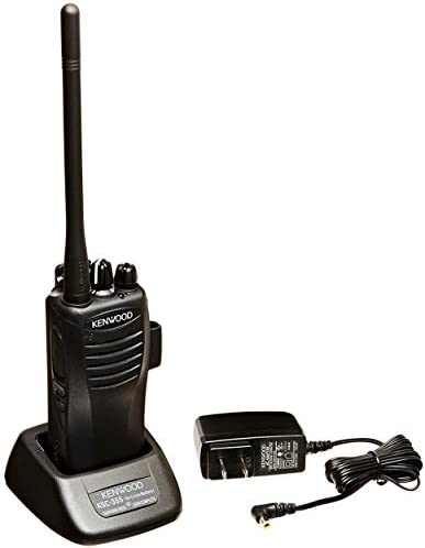 Kenwood TK-3400U16P PtoTalk 16 Channel Compact UHF FM 2-Watts Portable Two-Way Radio, Wireless Cloning, 90 UHF Pre-Programmed Banked Frequencies, Range Up to 6 Miles, QT DQT Encode Decode