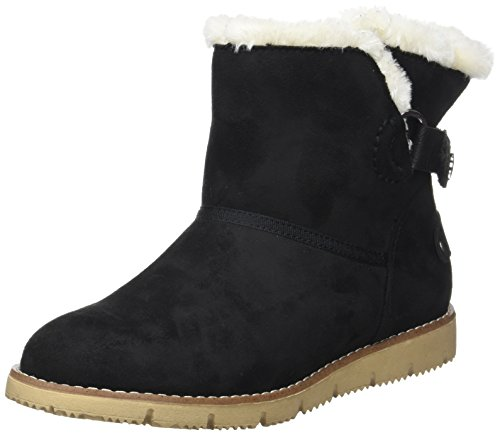 TOM TAILOR Damen 3793102 Schlupfstiefel Noir (Black)
