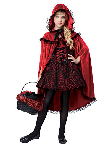 - California Costumes Deluxe Riding Hood Costume, Red/Black, Large