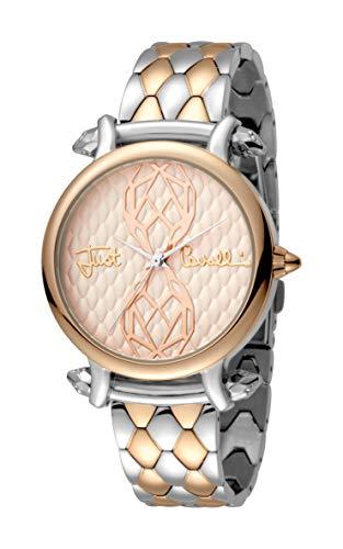Just Cavalli Women's Animal JC1L061M0105 Quartz Rose Tone IP Two Tone Bracelet Watch