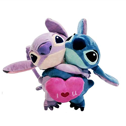PAPRING Lilo Toy 7 inch Stitch Angel Couple Disney Movie Big Plush Huggable Toys Large Stuffed Gift Collectable Christmas Halloween Birthday Gifts Cute Doll Animal Collectibles Collectible for Kids