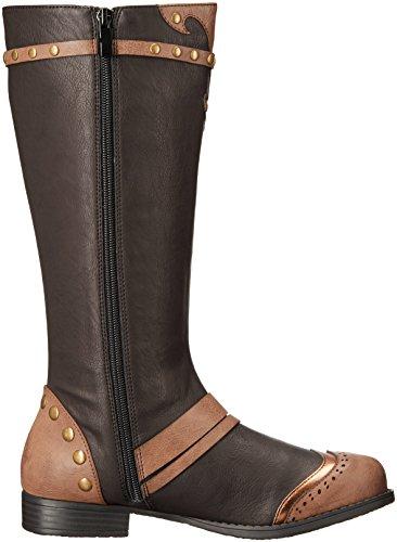 Ellie Chaussures Femme 181-silas Steampunk Boot Black