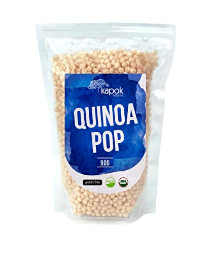 (NEW Kapok Naturals Organic Quinoa Pop, A Great Healthy Snack or Organic Cereal Choice, These Quinoa Puffs are a Natural Gluten Free Snack, Gluten Free Cereal or Healthy Vegan Snack.)