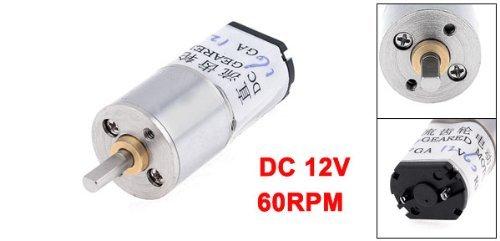 eDealMax 60rpm 3 mm Diamètre de l'arbre pernament Boîte magnétique Geared 12VDC moteur