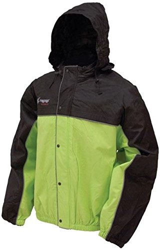 Frogg Toggs Unisex-Adult High Visibility Road Toad Rain Jacket (Green/Black, Large)