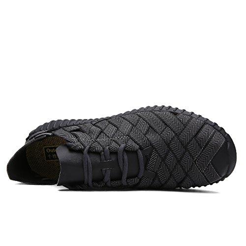 Hommes Casual Hommes Casual Chaussures En Plein Air Respirant Couples Chaussures Sneakers De Unisexe Hommes Femmes Tressées Chaussures ( Color : 4-44 )