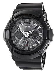 G-Shock Men's Quartz Watch with Black Dial Analogue - Digital Display and Black Resin Strap GA-201-1AER