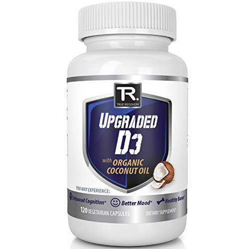 Upgraded Vitamin D3 W/Organic Coconut Oil Vegetarian Vitamin D Soft Gel Supplement