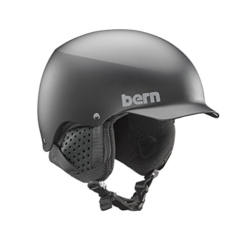 Bern Baker Snow Helmet (Matte Black with Black Liner, Small)