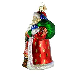 Old World Christmas Ornaments: Nordic Santa Glass Blown Ornaments for Christmas Tree