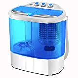 Portable Washing Machine, Spin Dryer-Compact Twin Tub Durable Design 10lbs Mini Washer to Wash All your Laundry for Apartments, Dorms, RV Camping Swim Suit Spinner Dryer, Blue...