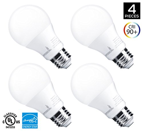 Hyperikon A19 Dimmable LED Light Bulb, 9W (60W Equivalent), ENERGY (Warm White Light Bulb)