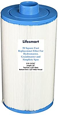 Lifesmart 50 Square Foot Replacemnet Filter For Hydromaster, Grandmaster and Simplicty Spas