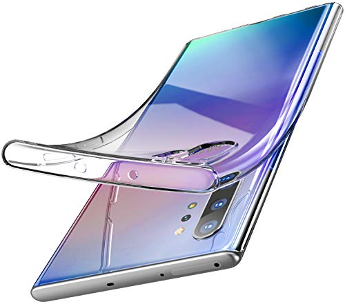 TOZO for Samsung Galaxy Note 10 Plus Case Premium Clear Soft TPU Gel Ultra-Thin [Slim Fit] Transparent Flexible Cover for Samsung Galaxy Note 10+ 5G [Clear Gel]