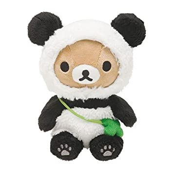 Muñeco de peluche kawaii oso marrón Rilakkuma disfraz oso panda