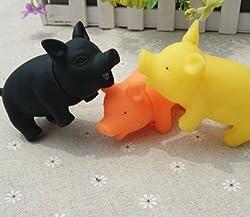 Peluches coloré sonore en caoutchouc pour chien chat chiot Cochon mignon couineur voix Mastiqueurs jouet pour animaux