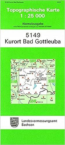 Kurort Bad Gottleuba 5149 Topographische Karte 1 25 000
