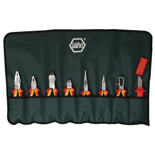 Wiha 32889 Insulated Pliers and Cutters Set In Canvas Pouch, 8 Piece