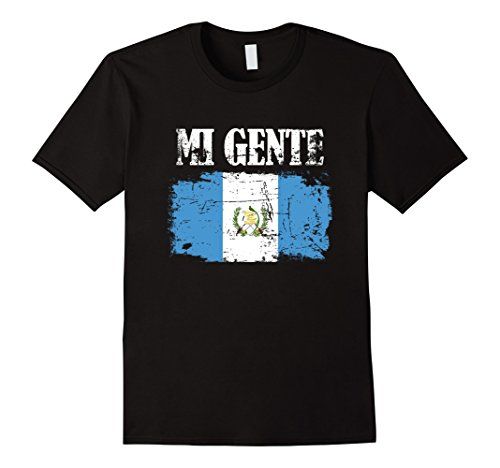 Mens Mi Gente (My People) Guatemala Pride T-Shirt Large Black