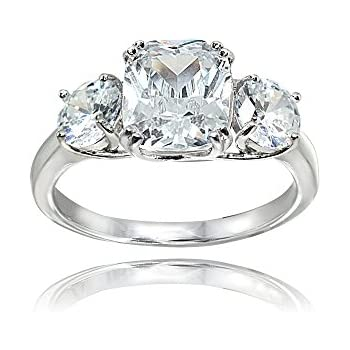Sterling Silver Reign Of Romance Synthetic Cubic Zirconia