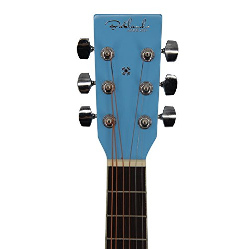 Bailando 30 Inch Starter Acoustic Beginner Guitar with Carrying Bag & Accessories, Blue - Image 4