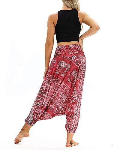 Comoda Pantalone Stampa Elastica Pantaloni Cavallo 036 Larghi Con Yoga Cintura Aladino Retro Basso Donna XB4qw
