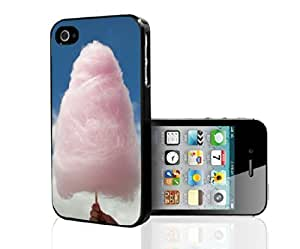 Pink Fluffy Cotten Candy in Bright Blue Sky Hard Snap on Phone Case (iPhone 5/5s) by ruishername