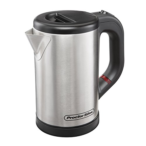 Proctor Silex 40940 Compact Electric Kettle, .5 Liter, Stainless Steel ()