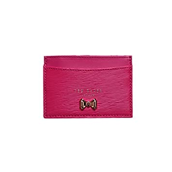 085f576ebe Ted Baker Women's Cilinir Curved Bow Leather Credit Card Holder ...